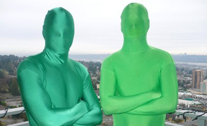 The Green Men aka Force and Sully - Vancouver Canucks fanatics