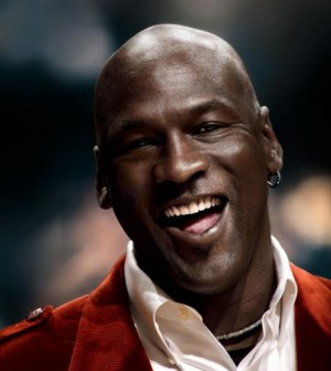 Michael Jordan makes $80 million a year. His biggest earner is, of course, the monolithic Air Jordan shoe by Nike spanning almost 30 years of production. - 169_1michael_Jordan_smiles-300x336