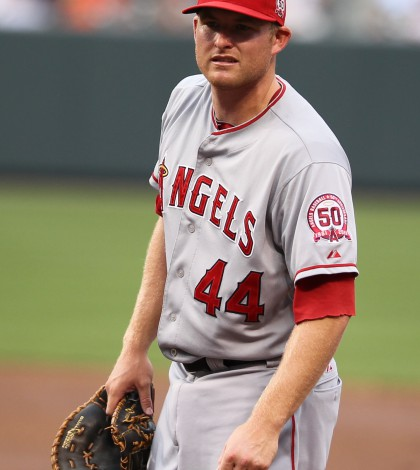Los Angeles Angels first baseman Mark Trumbo (44)