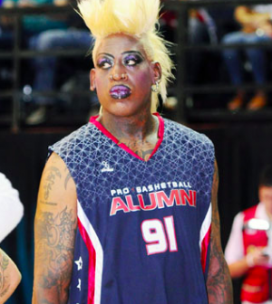 Dennis Rodman Isn T Exactly Know For His Subtle Fashion Sense But The Nba Superstar Really Outdid Himself Recently At Legends Of Basketball 2017 Tour