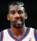 Knicks forward Stoudemire walks onto the court after a time out against the Bulls in the second quarter of their NBA basketball game at Madison Square Garden in New York