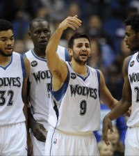 Karl-Anthony Towns, Gorgui Dieng, Ricky Rubio, Andrew Wiggins