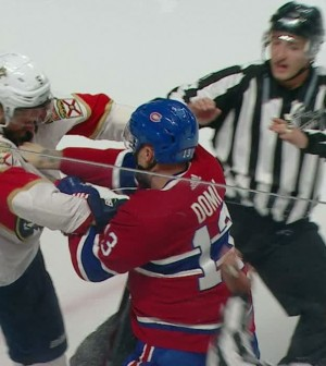 "025899255d0 Luongo not happy about Domi s sucker punch  ""We definitely won t ..."